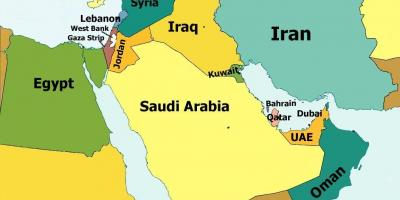 Carte Du Monde Qatar.Bahrein Carte Cartes De Bahrein Asie De L Ouest Asie